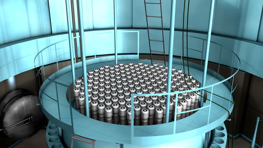 Artist rendering, Nuclear reactor interior view.