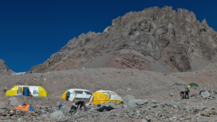 Aconcagua Time Lapse Plaza Argentina climbers climbing