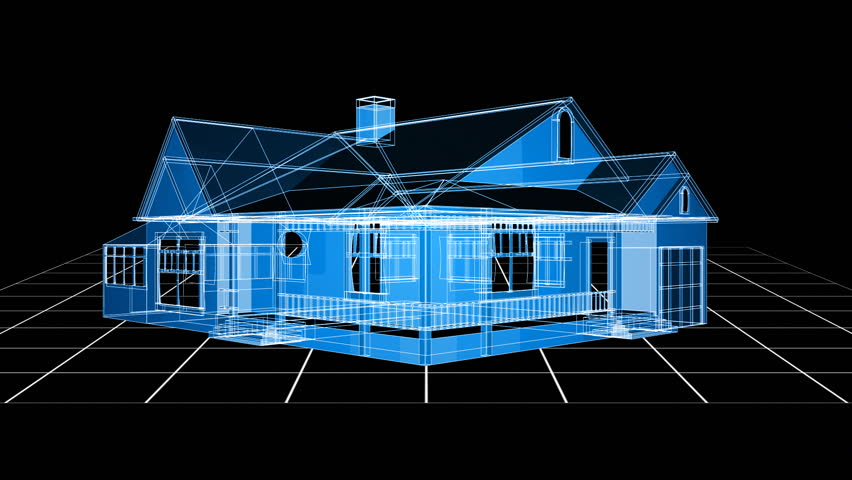 House Animation   HD Stock Video Clip