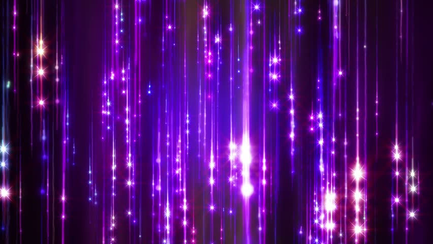 Abstract motion violet colors background, shining lights, sparks and fireworks like particles, seamless loop able. #4904507