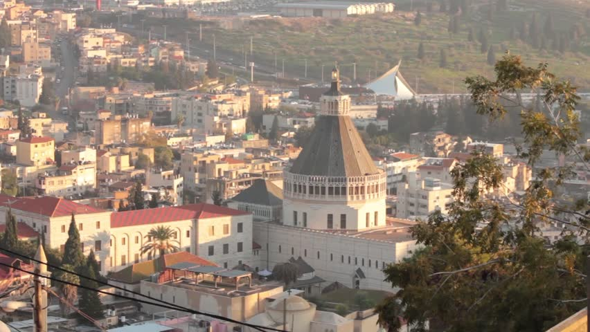 The Annunciation Church of Nazareth, the holy city of Jesus Parents  | Shutterstock HD Video #4908347
