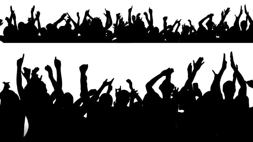 sports fans cheering silhouette. cheering crowd. concert. 2 in 1. alpha matte. more options my sports fans silhouette u