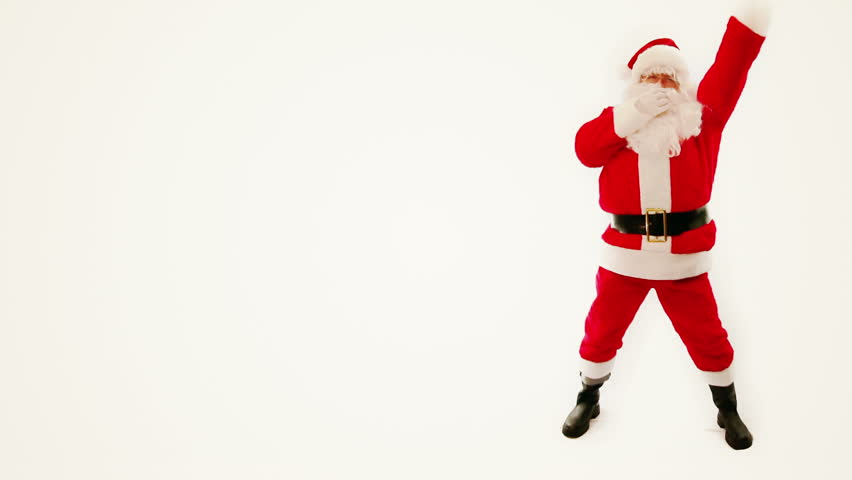 Happy merry christmas Santa Claus dancing pop dance - full-hd video for Christmas holiday greeting footage