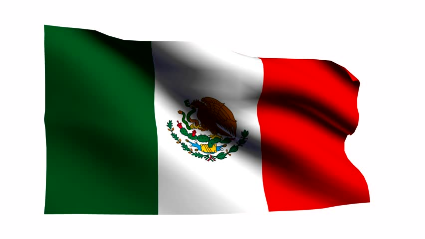 stock video of mexican shining waving flag loop 878416 rh shutterstock com