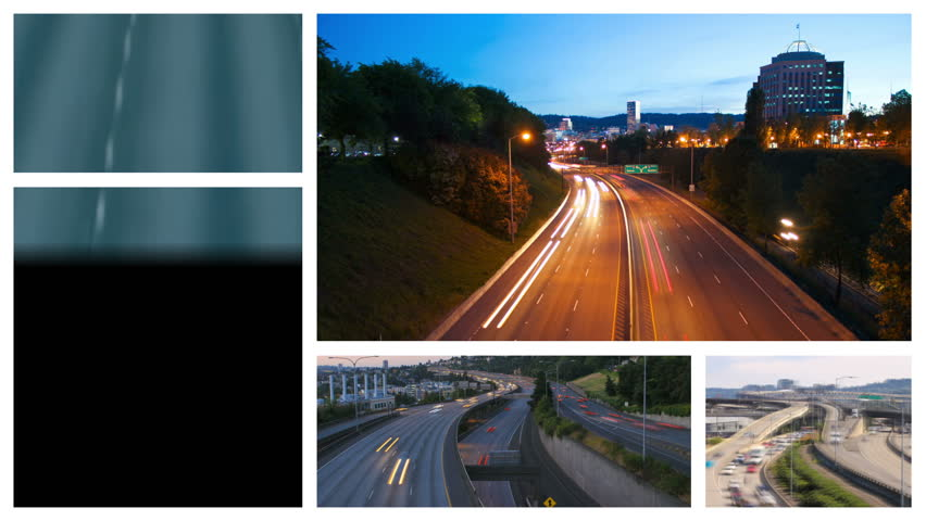 Video montage of highway and freeway related media. Loopable. | Shutterstock HD Video #4963817