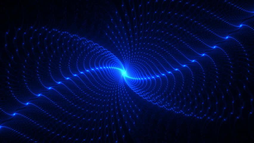 Deep blue spirals fractal seamless loop #4966367