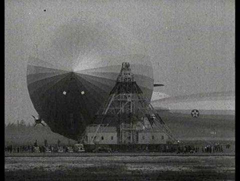 1930s - The Hindenburg zeppelin explodes at Lakehurst, N.J. in 1937.