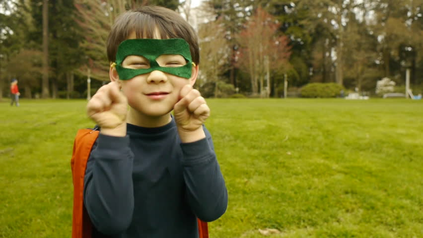 Close Up Of Super Hero Boy