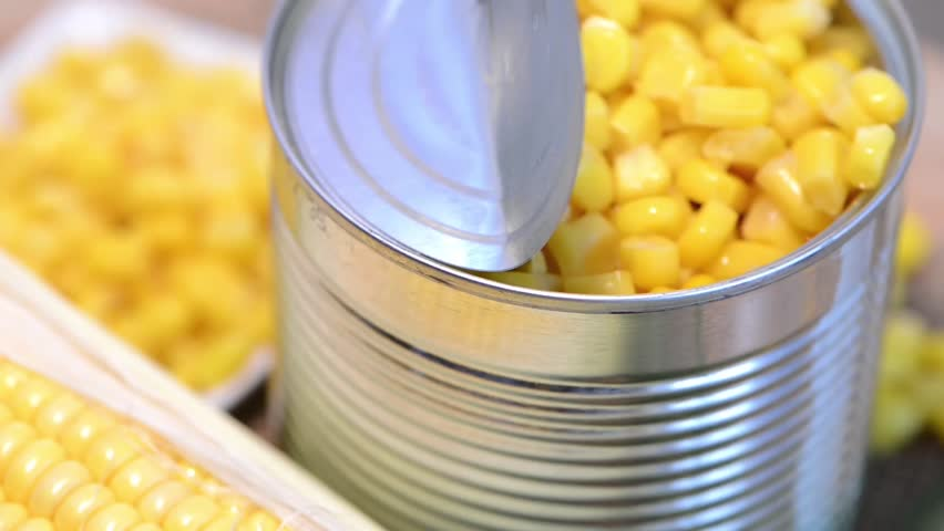Preserved Sweetcorn (Loopable Video)