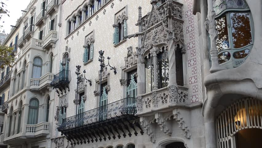 Casa Batllo house the constructed Gaudi #4990268