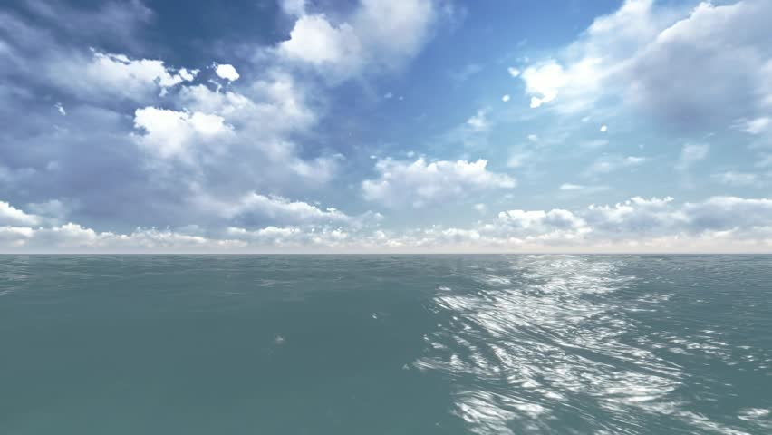 Render over a sea surface. Stock video