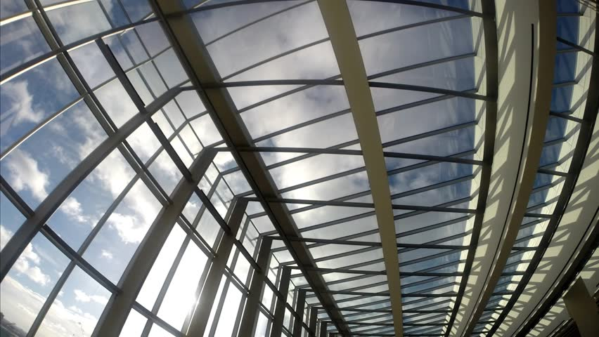 Modern Architecture Detail modern architecture detail - glass ceiling in the office building