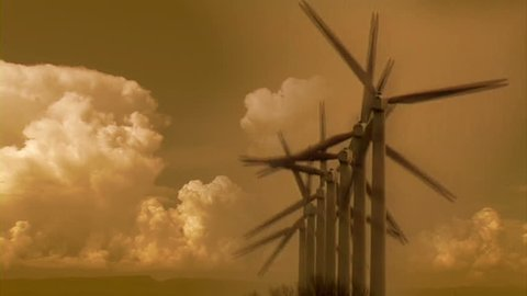 Wind Power plant, Timelapse clouds