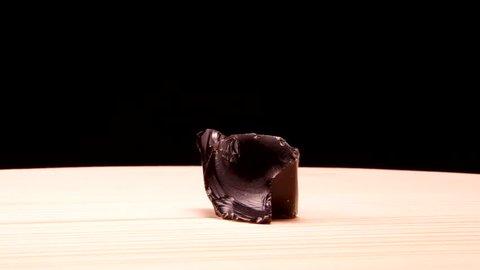 Obsidian stone mineral raw