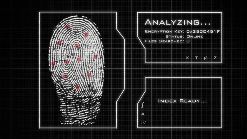 Fingerprint Scan, Analysis, and Database Stock Footage Video (100%  Royalty-free) 5025737 | Shutterstock