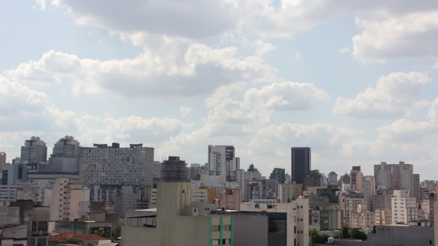 Time lapse of Sao Paulo city with a beautiful skyline