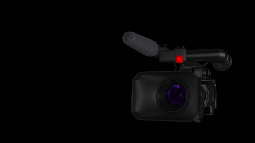 Pro Video Camera I - News and Event Transition with Globe Reflection - 3D Model Animation - Alpha Channel