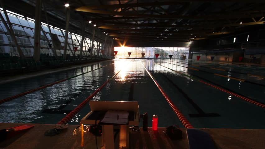Swim Training Indoor Pool early morning