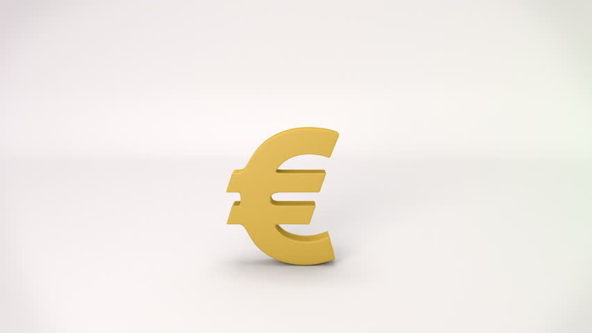 3d Rotating Gold Currency Symbols Pound Dollar Euro Yen
