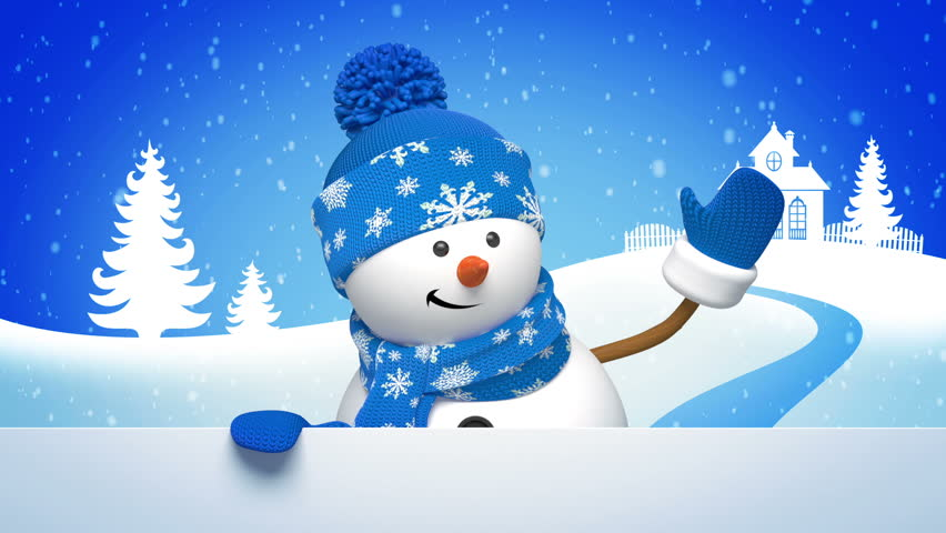 Christmas snowman salutation animated greeting stock footage video browse video categories m4hsunfo