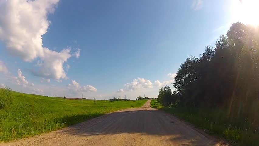 driving on rural road