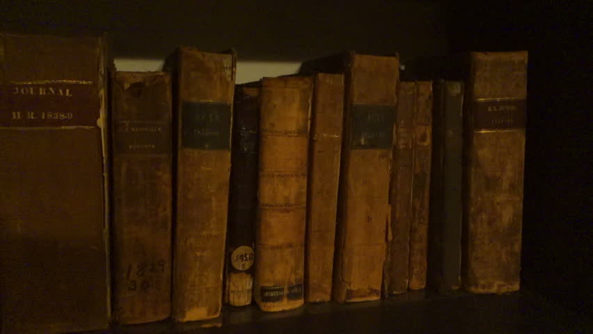 Rare old antique books.  This is inside the Old Kentucky State capitol, it is government property.