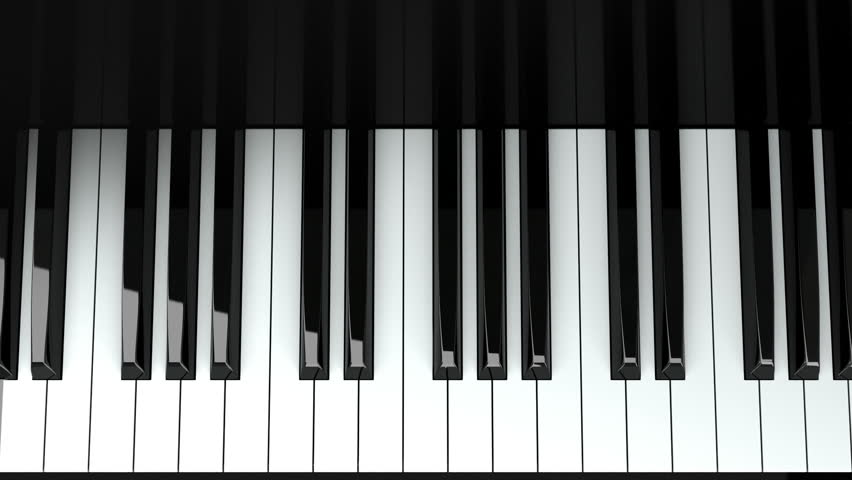 Loopable Piano Keyboard Background With Stock Footage Video 100