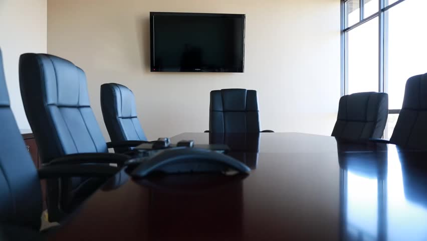 chairs in a conference room stock footage video