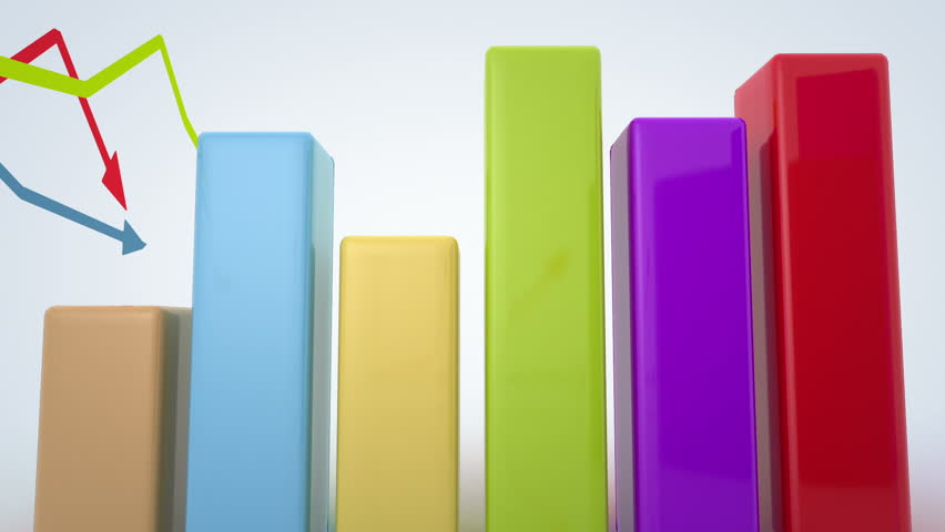 Growing and changing graphs. seamless looping 3d animation | Shutterstock HD Video #5130377