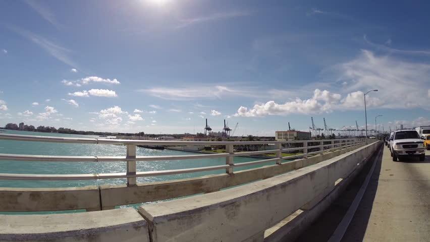 Macarthur Bridge in Miami Beach | Shutterstock HD Video #5204807