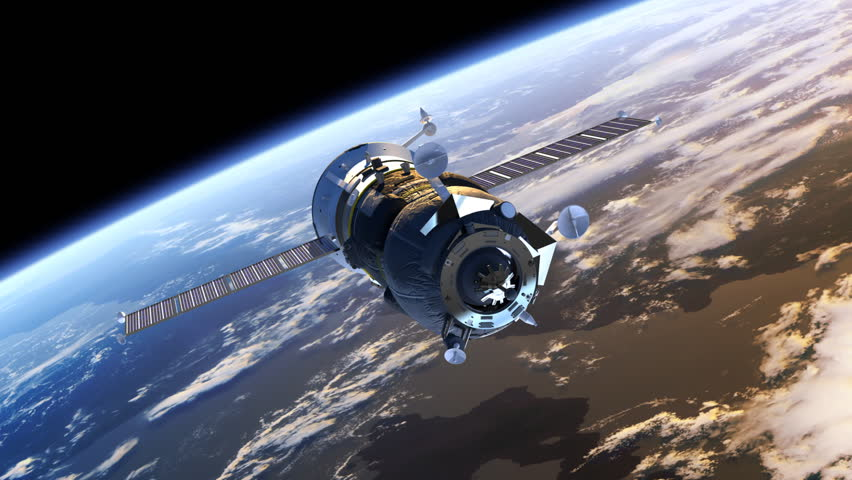 "Stock video of spacecraft ""progress"" deploys solar panels ..."