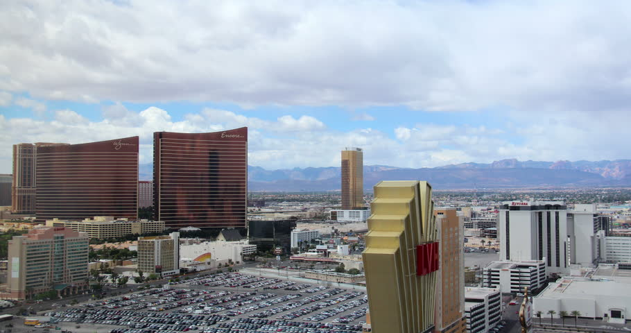 LAS VEGAS, NEVADA - October, 2012: A time lapse shot of a storm approaching the Las Vegas Strip.  | Shutterstock HD Video #5234177