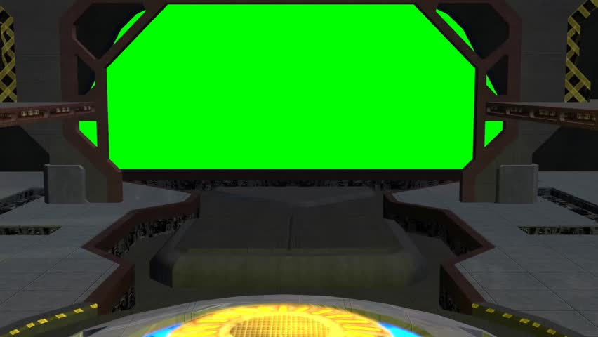 Animated spaceship hangar green screen video footage | Shutterstock HD Video #5273897