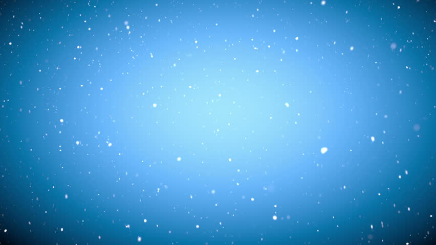 Christmas gentle snow fall  - seamless loop, HD, on bright blue background | Shutterstock HD Video #5287004
