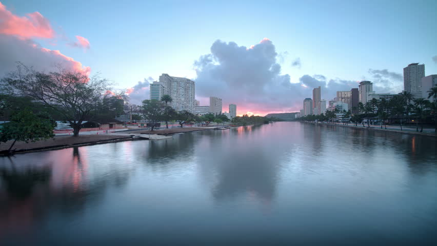 Honolulu, Oahu, Hawaii, Time Lapse Sun