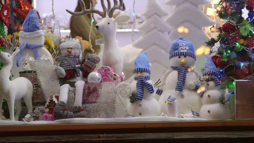 Christmas Gift Shop Window Display