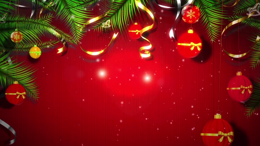 footage background high definition christmas balls - What Is The Definition Of Christmas