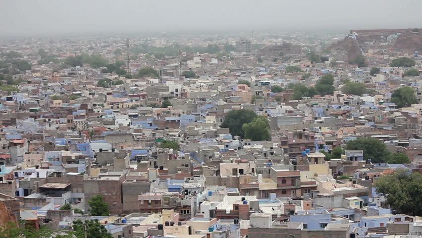 Jodhpur blue city view in India