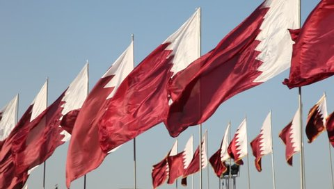 National flags of Qatar, Middle East