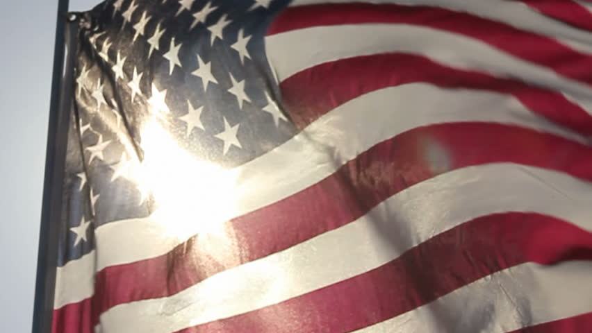 AMERICAN FLAG IN SLOW MOTION #5372267
