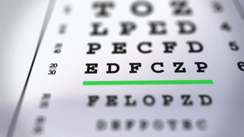 Eye Chart Animation Stock Footage Video 100 Royalty Free 5373167