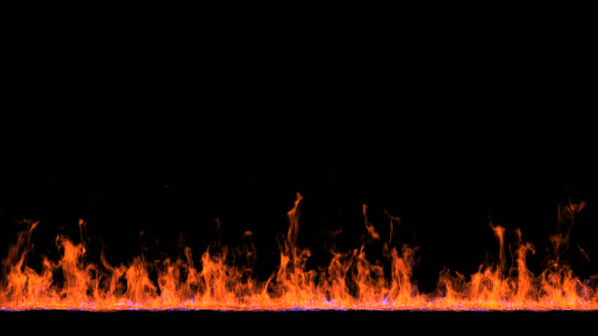 Animated line of fire 3 on black background  Mask… - Royalty Free Video