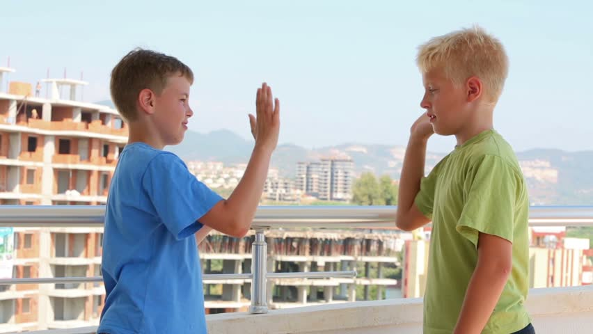 Stock video of two boys greet each other against 5403077 stock video of two boys greet each other against 5403077 shutterstock m4hsunfo