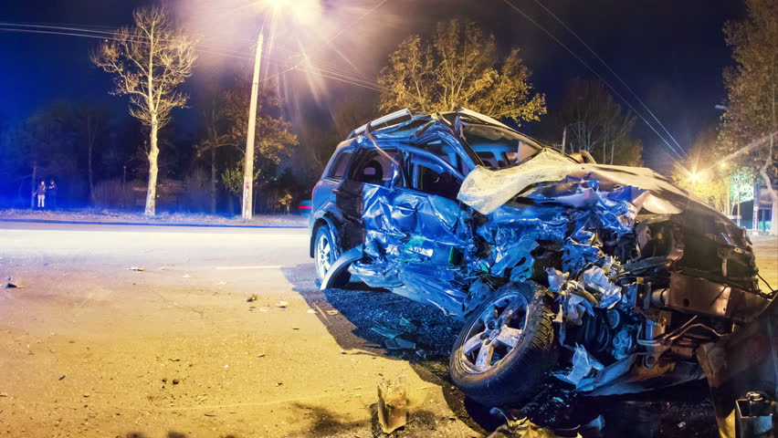 Car Accident Stock Footage