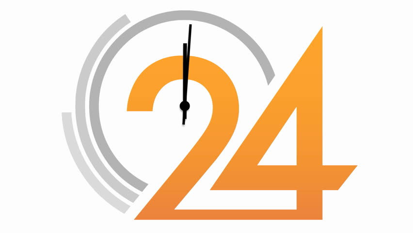 Animation Clock Time Without Seconds White Background