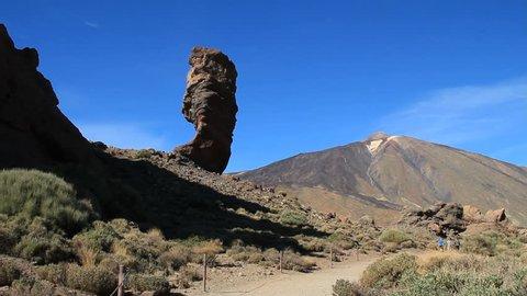 Roque Cinchado. Roques de García, rock formations of the Teide National Park (World Heritage Site).