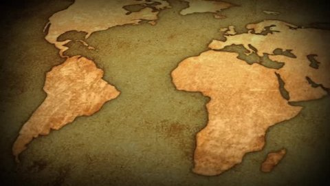 vintage map of the world - motion background