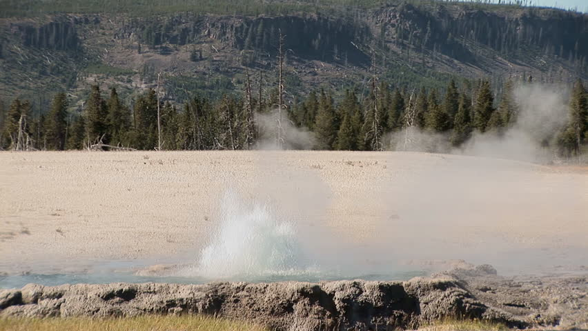 Small geyser, Yellowstone National Park - zoom out