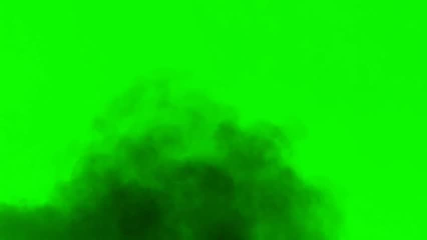 Atmosphere Smoke Dust - seperated on green screen .