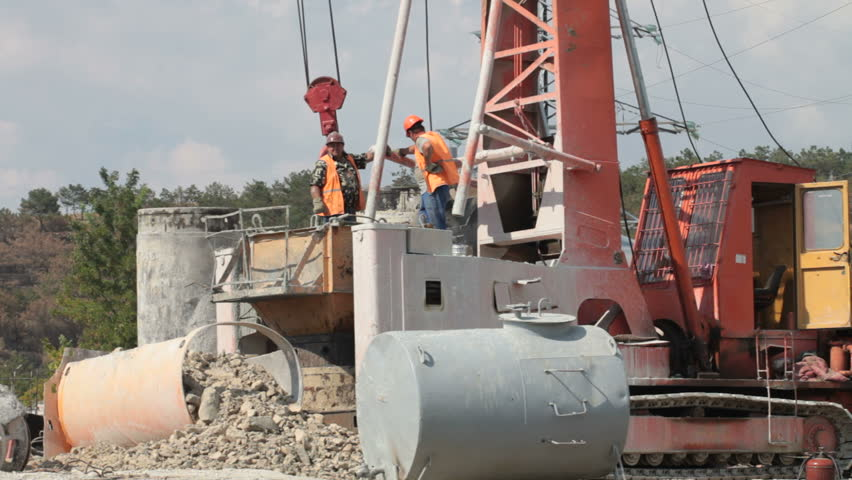 Bored Piling Machine in Operation Stock Footage Video (100% Royalty-free)  5450807 | Shutterstock